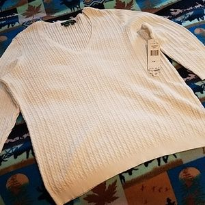 NEW with tag, white Ralph Lauren light sweater